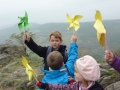 Žížalí podzimky - zkouška větrníků