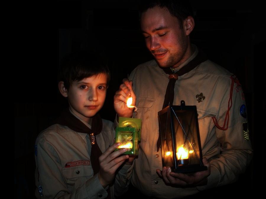 Betlémské světlo (Foto Martin Libich)