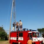 Zásah hasičů v táboře