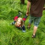 Schovka v trávě