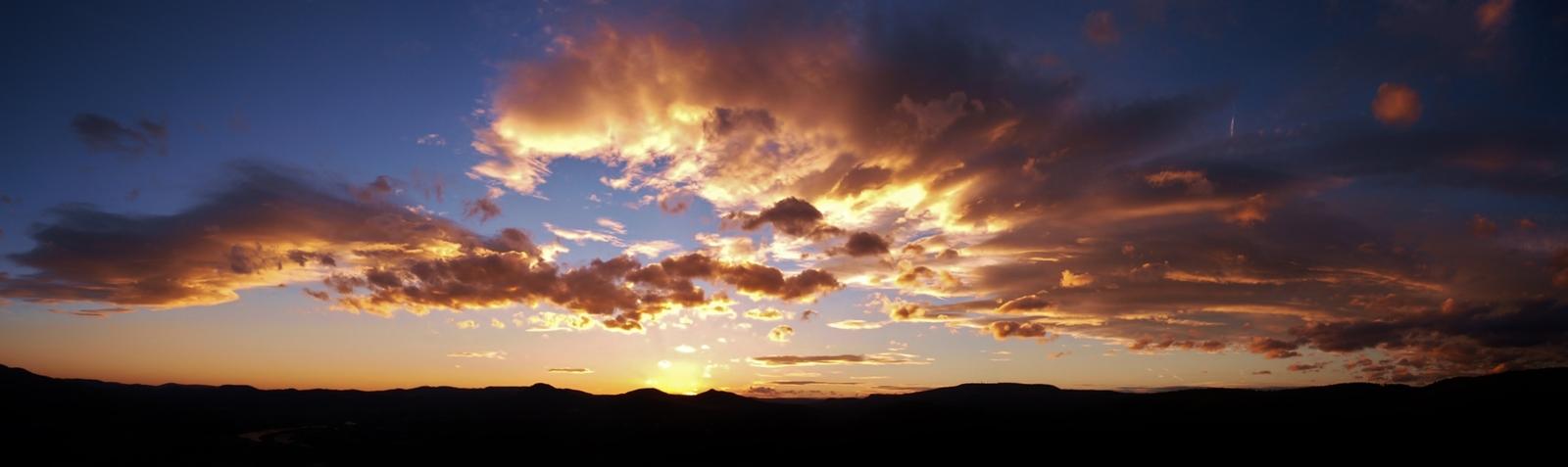 Západ slunce nad Děčínem