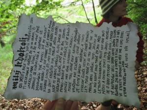 Záhadný dopis z kešky
