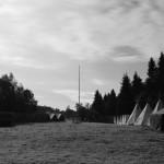 Noční pohled do tábora