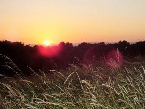 Zažily jsme nádherný západ sluníčka ... Za ten nám ten výšlap stál!